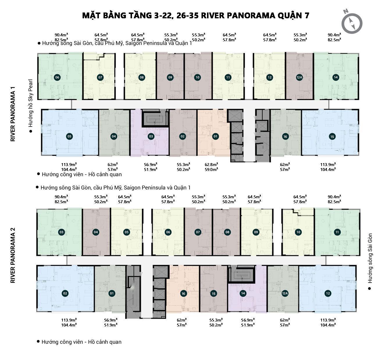 MAT BANG CHUNG CU RIVER PANORAMA 3